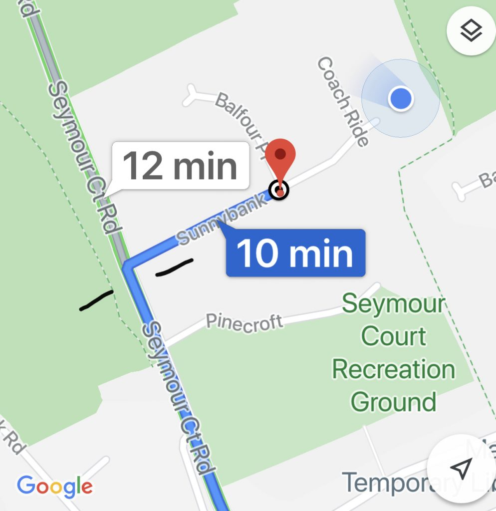 """""""Carrera"""" can be located at the very end of Sunnybank where the 🔵 can be seen"""
